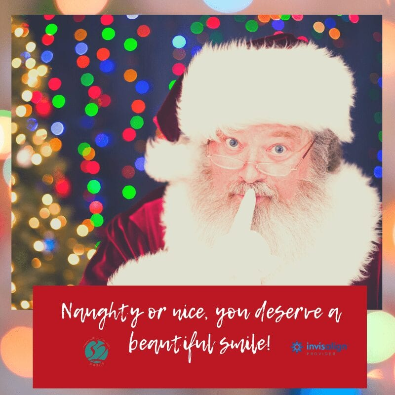 Santa Claus knows that low cost Invisalign is the secret to a beautiful smile.